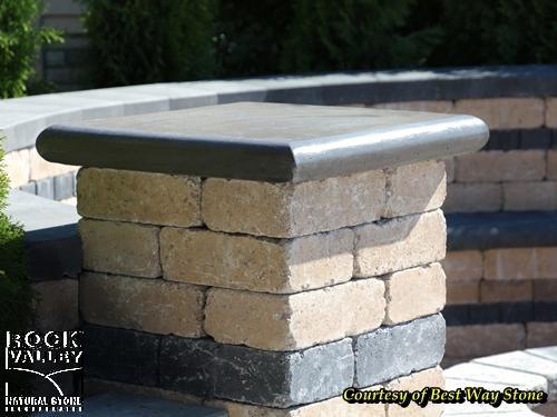 Stone Cap Detail : Coping edging bullnose column cap